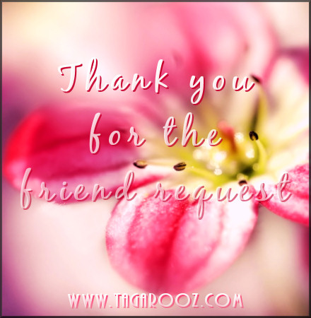 Thank you for the friend request | Tagarooz.com