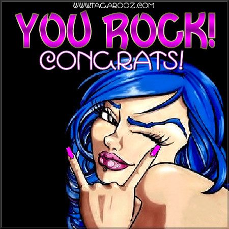 You rock congrats | Tagarooz.com