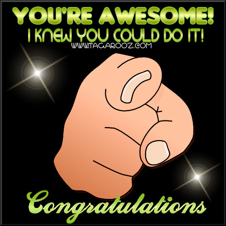 You're awesome! i knew you could do it!