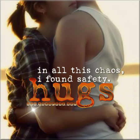 In all this chaos, I found safety. Hugs | Tagarooz.com