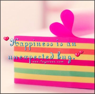 Happiness is an unexpected hug | Tagarooz.com