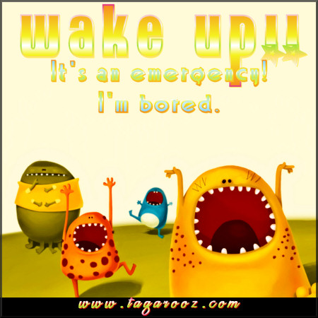 Wake up! It's an emergency! I'm bored. | Tagarooz.com