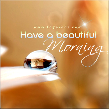 Have a beautiful morning | Tagarooz.com