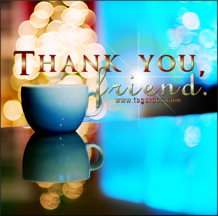 Thank you friend | Tagarooz.com