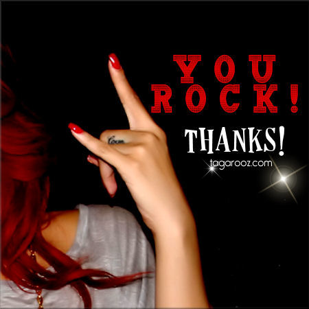 You Rock! Thanks | Thank you comments and graphics - Tagarooz.com