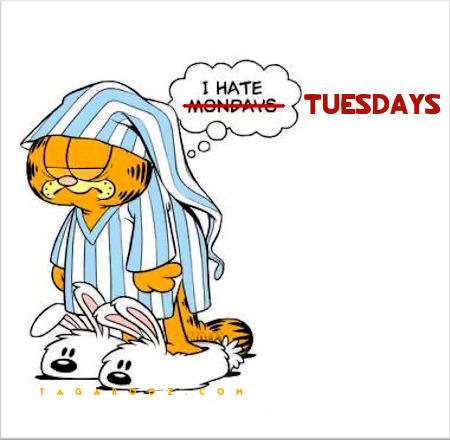 I hate Tuesdays | Tuesday Comments & Graphics