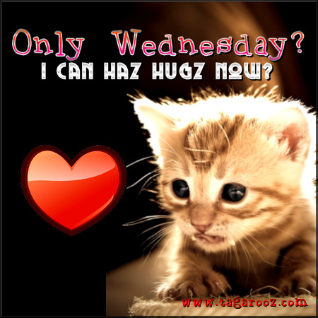 Only Wednesday I can haz hugz now