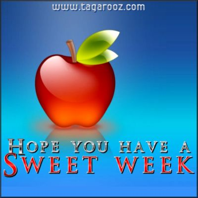 Hope you have a sweet week