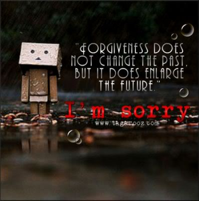 Forgiveness does not change the past, but it does enlarge the future. I'm sorry. | Tagarooz.com